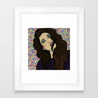 Dotty Girl Framed Art Print