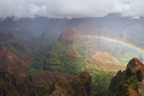 Waimea Canyon Rainbow Canvas Print
