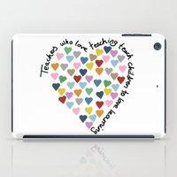 Hearts Heart Teacher iPad Case