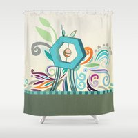 Polygon Monument Shower Curtain