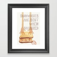 Sandwiches Are Best When… Framed Art Print