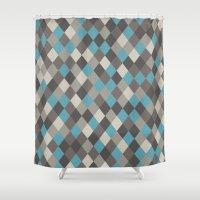Harlequin Grey Shower Curtain