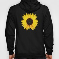 colored summer ~ sunflower black Hoody