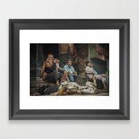 The Men Mourn Framed Art Print