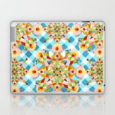 Blue Gingham Pastel Mandala Laptop & iPad Skin