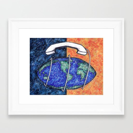 LONG DISTANCE Framed Art Print