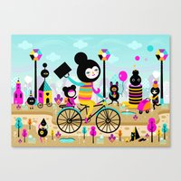 Morning Ride! Canvas Print
