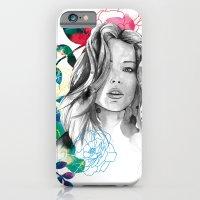 Kristen fashion watercolor portrait iPhone 6 Slim Case