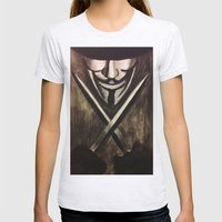 VENDETTA Womens Fitted Tee Ash Grey SMALL