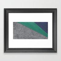 Black, Turquois, Dark Bl… Framed Art Print