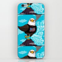 He Is A Bird Of Mad Mora… iPhone & iPod Skin
