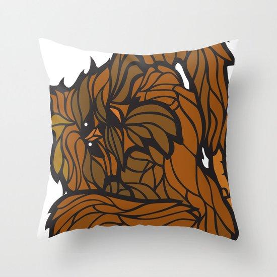 Squatch Throw Pillow