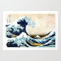 Kanagawa Oiled Art Print