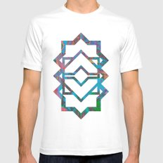 M024 White Mens Fitted Tee SMALL