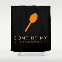 Little Spoon - Orange is the New Black Shower Curtain