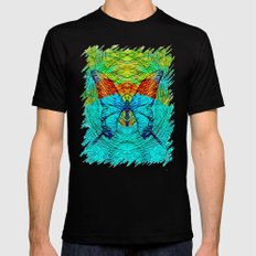 butterfly Mens Fitted Tee Black SMALL