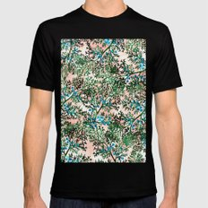 Botanical Watercolor Art… Mens Fitted Tee Black SMALL