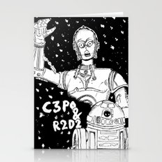 C3PO & R2D2 SHIP SHIP SHIP  Stationery Cards