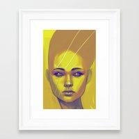 Framed Art Print featuring Gold by Suarez Art