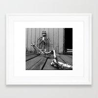 Skeletons on the Deck Framed Art Print