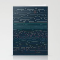 Linear Landscape Stationery Cards