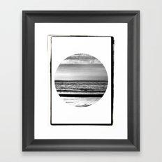 Black and White Beach Framed Art Print