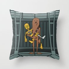 EP5 : Chewie & C3PO Throw Pillow
