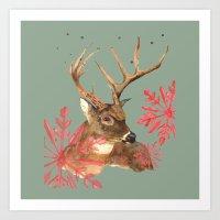 Forest Royalty, Stag, De… Art Print