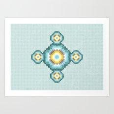 Flower pattern 02 Art Print