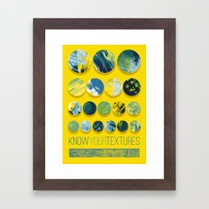 Know Your Textures Framed Art Print