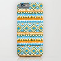 iPhone & iPod Case featuring Desert Sunrise Ikat by virginia odien