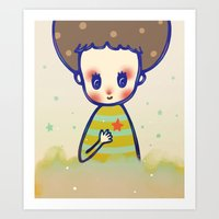 the little star in my heart Art Print