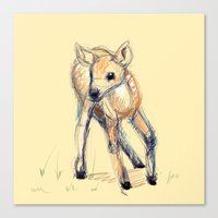 Wobbly Deer Canvas Print