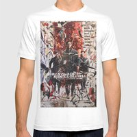 Senza Gloria Mens Fitted Tee White SMALL