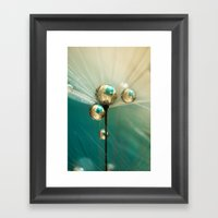 Dandy with Drops of Gold and Jade Framed Art Print