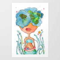 Blue Girl -- She's A Gen… Art Print