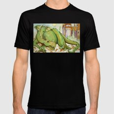 DRAGON Black Mens Fitted Tee SMALL