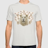 Lambs Led By A Lion Mens Fitted Tee Silver SMALL