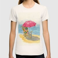 Beach Chair Womens Fitted Tee Natural SMALL