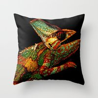 KARMA CHAMELEON Throw Pillow