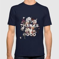 No Thanks I'm Good Mens Fitted Tee Navy SMALL