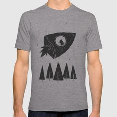 laika. Mens Fitted Tee Athletic Grey SMALL