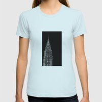 Dark side Womens Fitted Tee Light Blue SMALL