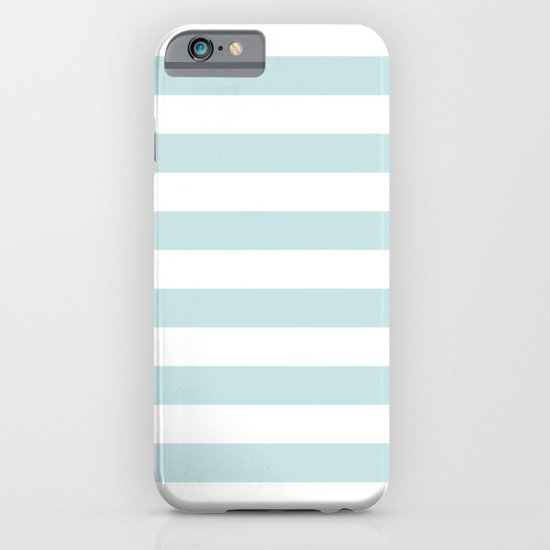 Ocean Blue Nautical Stripes Artsy Vintage iPhone & iPod Case
