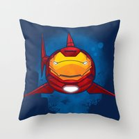 Tony Shark Throw Pillow