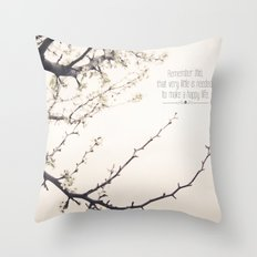 Happy Life Throw Pillow