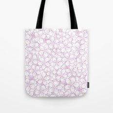 Cherry Blossom Pink Outline - In Memory of Mackenzie Tote Bag