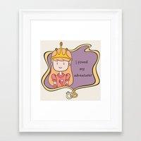 I Found My Adventurer - Princess Framed Art Print
