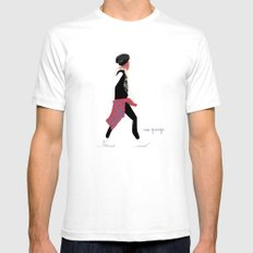 #theFIserie: Neo Grunge Mens Fitted Tee White SMALL