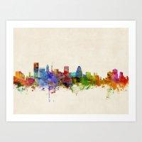 Baltimore Maryland Skyli… Art Print
